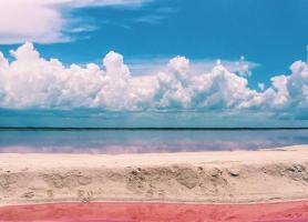 دریاچه صورتی در مکزیک