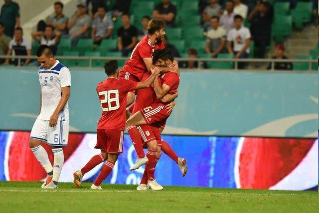 بازی قلی زاده مقابل ازبکستان با پای مصدوم