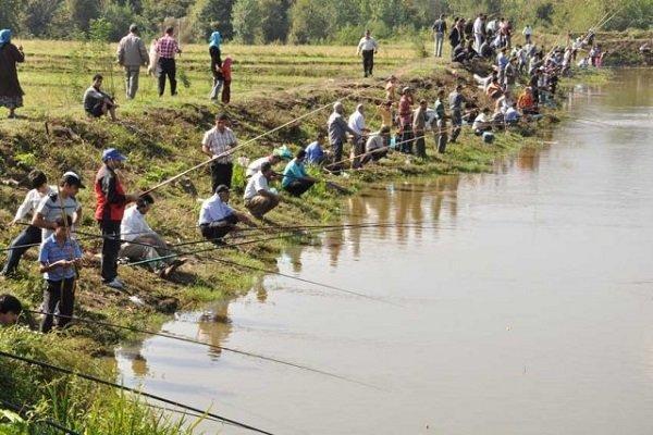 برگزاری جشنواره ماهی گیری با قلاب در سد سهند