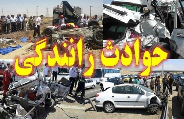 یک کشته و 6 مصدوم بر اثر واژگونی سرویس دانش آموزان در کرمان