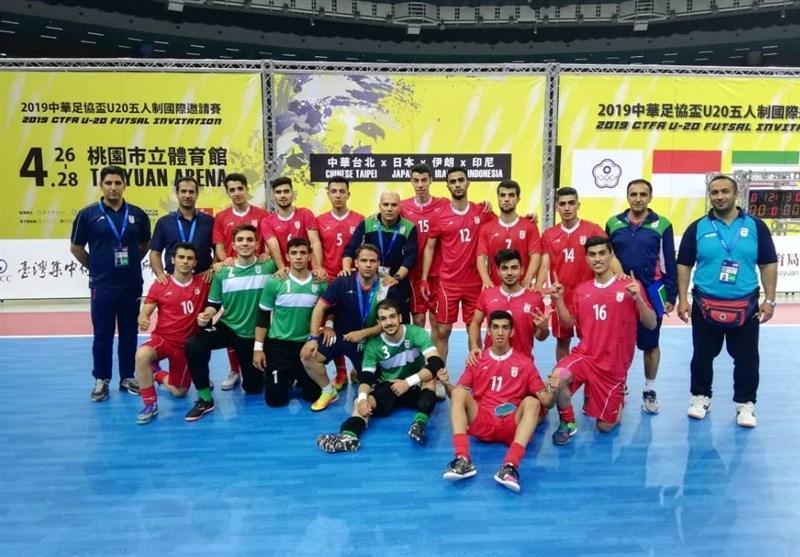 پیروزی پُرگل تیم فوتسال زیر 20 سال ایران مقابل چین تایپه