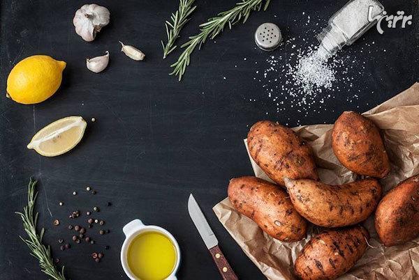 کاهش مسائل گوارشی با سیب زمینی شیرین