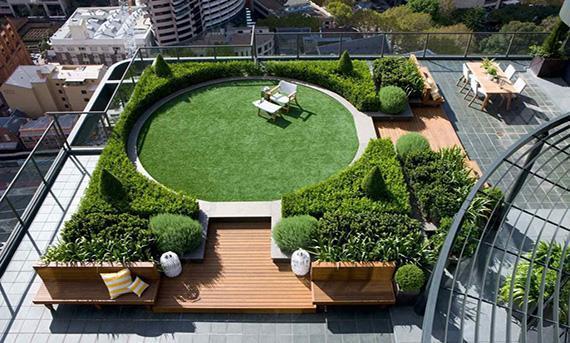 بازسازی بام سبز ساختمان