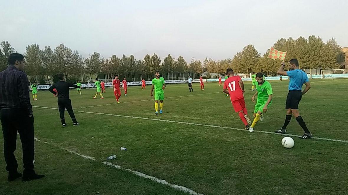 تساوی تیم ملی فوتبال جوانان و پارس جنوبی در دیداری محبت آمیز