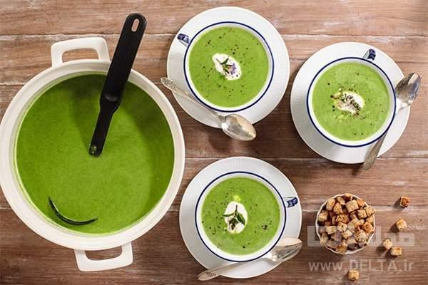 سوپ اسفناج و خامه ، پیش غذای اسپانیایی