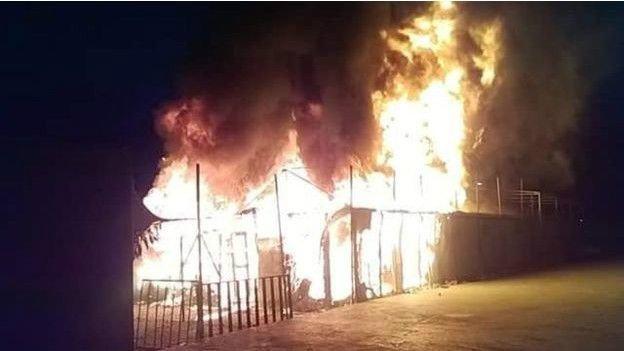 اردوگاه پناهجویان یونان آتش گرفت