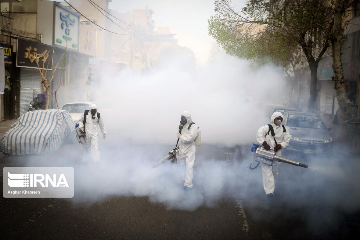 خبرنگاران 259 مکان عمومی در همدان ضدعفونی شد