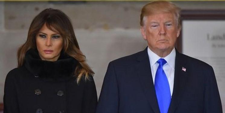 همسر ترامپ پیام های متناقض با او درباره اعتراضات منتشر می کند