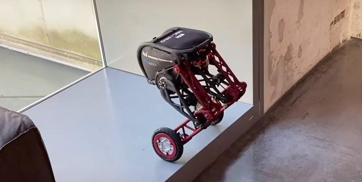 ربات دو چرخی که پرش می کند
