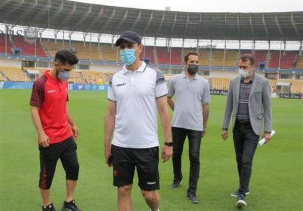 بازدید گل محمدی و عالیشاه از ورزشگاه دیدار با الوحده