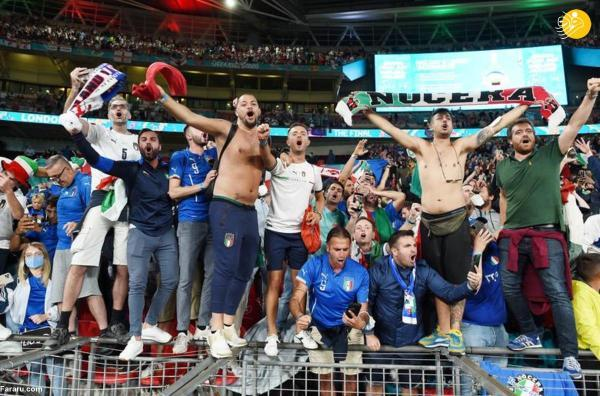 جشن قهرمانی ایتالیا در یورو 2020